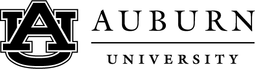 Auburn University black and white logo